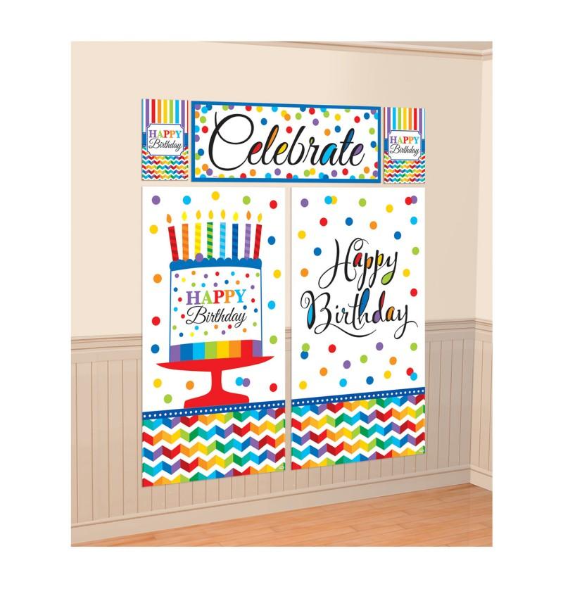 kit de decoracin pared de lunares de colores