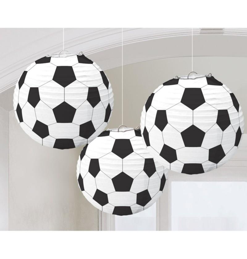 set de 3 esferas colgantes decorativas de pelotas de ftbol