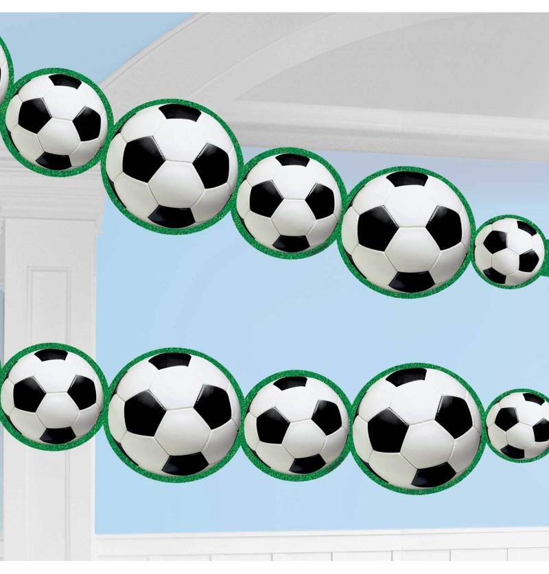 guirlanda con pelotas de futbol