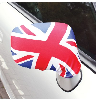 set de 2 cubre retrovisores de coche con la bandera de reino unido