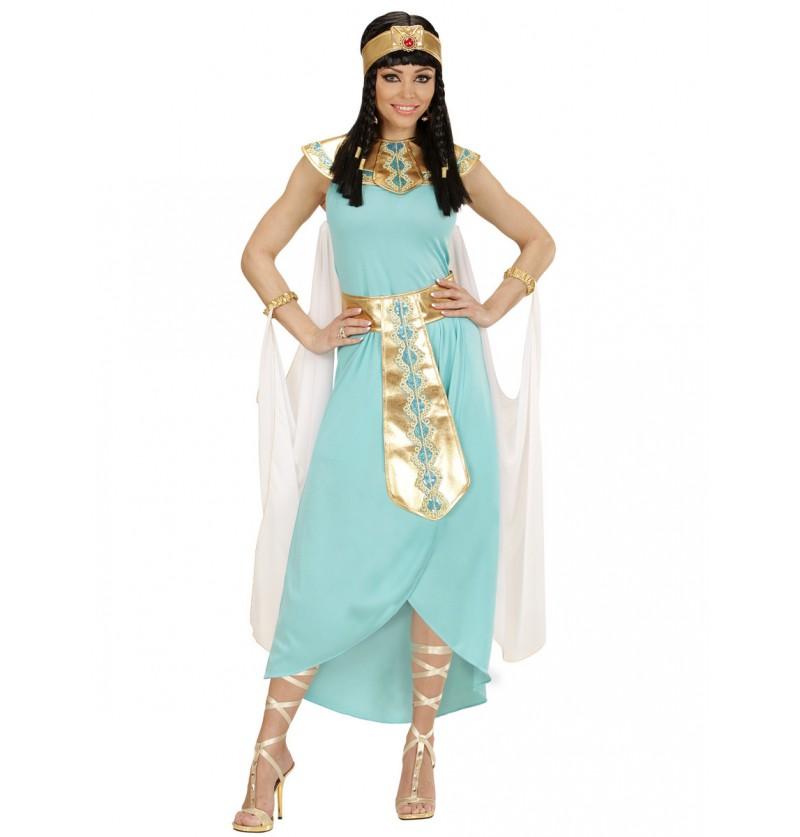 Disfraz de reina egipcia azul para mujer