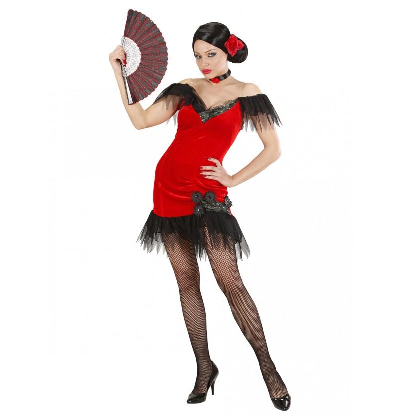 Disfraz de cabaretera sensual para mujer