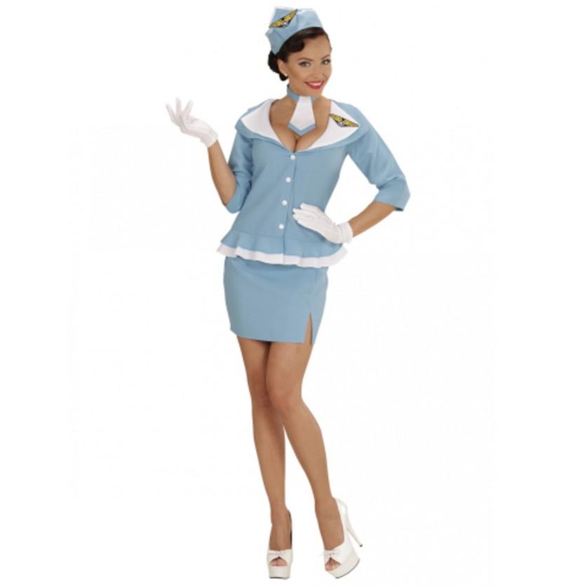 Disfraz de azafata retro para mujer