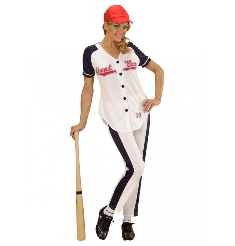 Disfraz de jugadora de béisbol para mujer