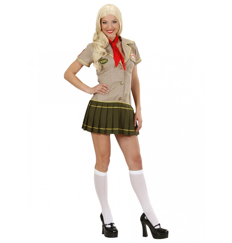 Disfraz de chica scout pícara