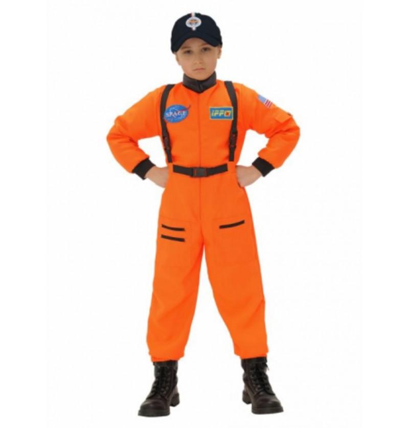 Disfraz de astronauta naranja para niño