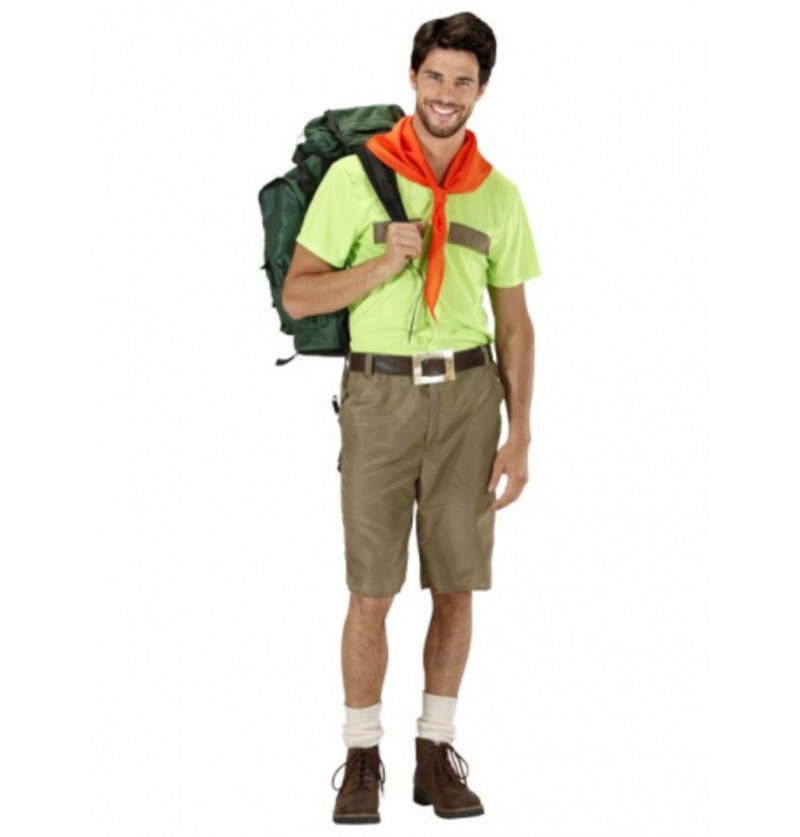 Disfraz de boy scout disciplinado para hombre