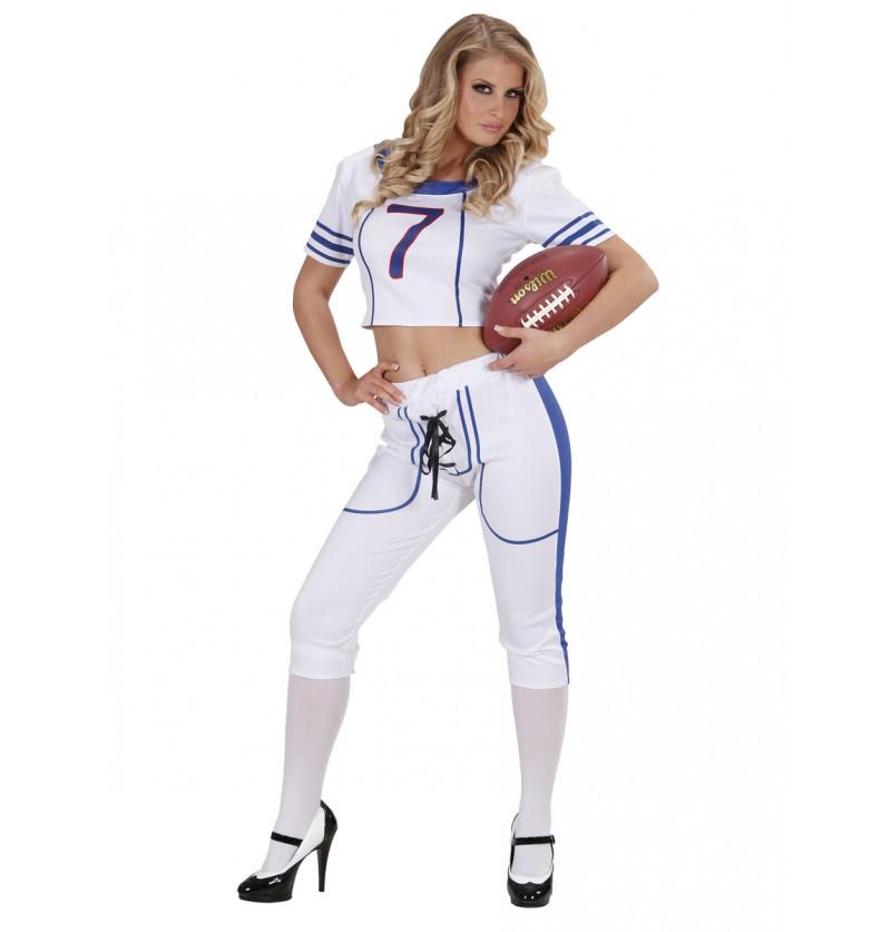 Disfraz de jugadora de fútbol americano sexy para mujer