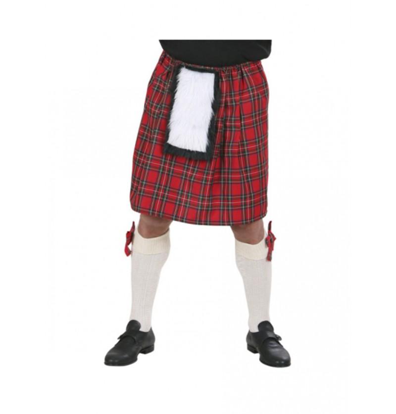 Falda escocesa para adulto talla grande