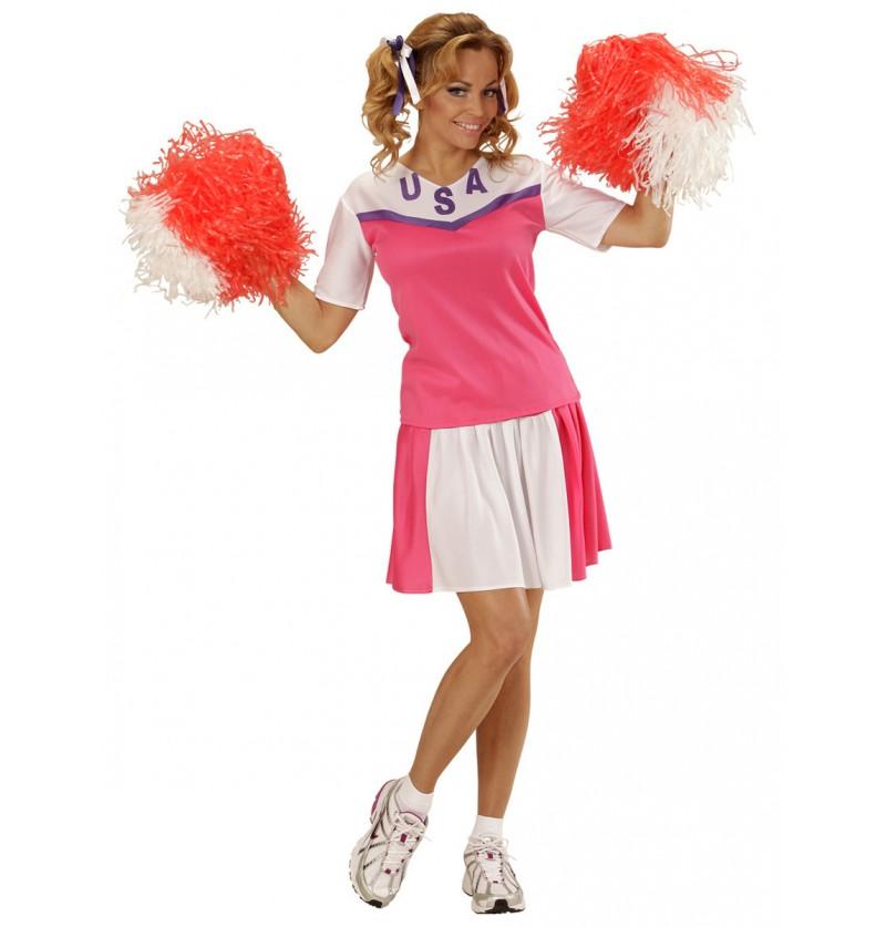 Disfraz de animadora americana para mujer