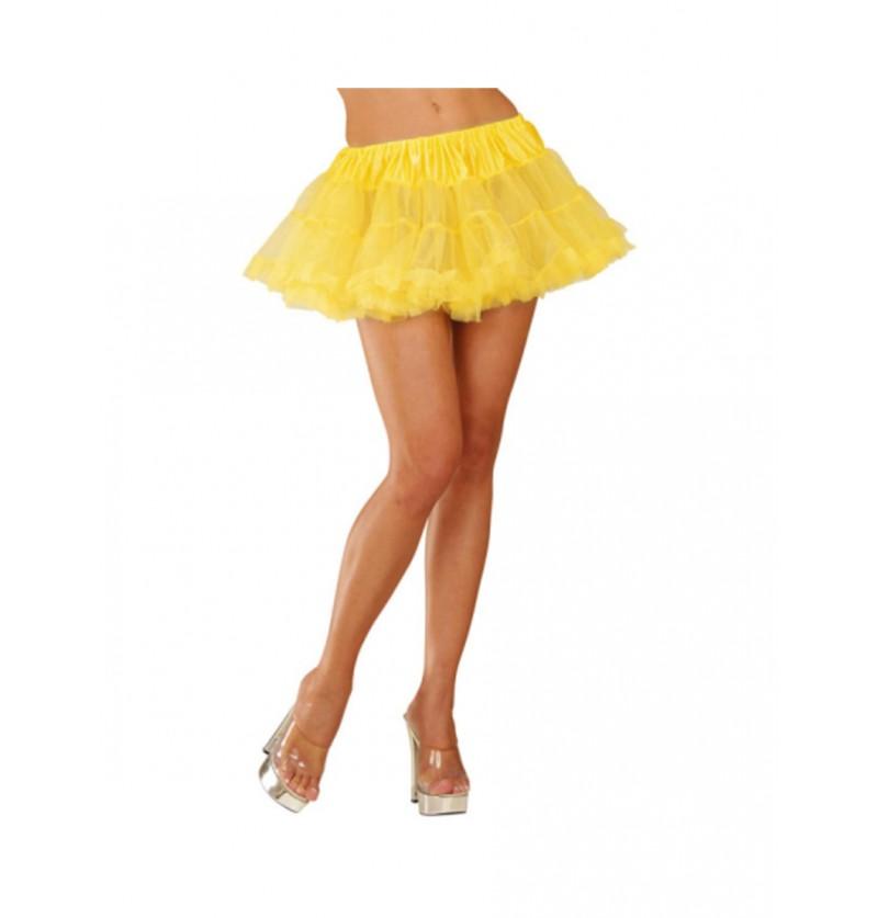 Tutú amarillo neón mujer