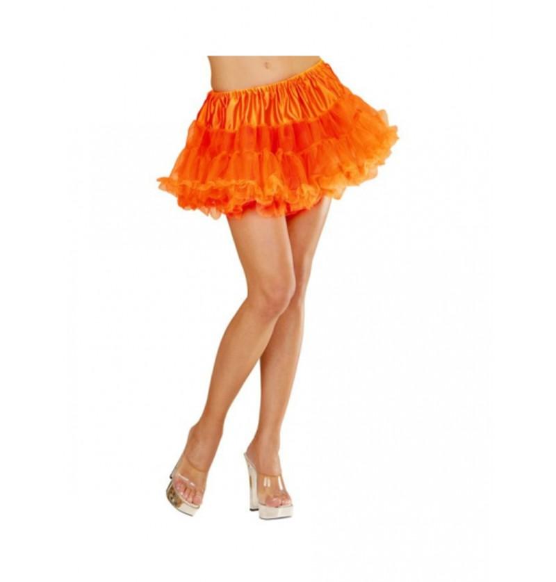 Tutú naranja neón mujer