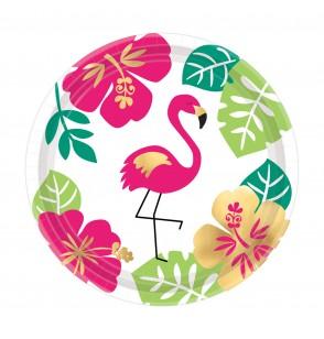 set de 8 platos mediano aloha