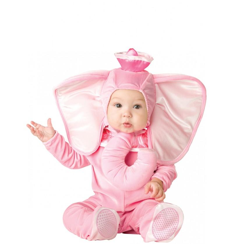 Disfraz de elefantito rosa para bebé