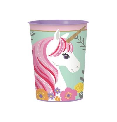 vaso de plstico duro de princesa unicornio