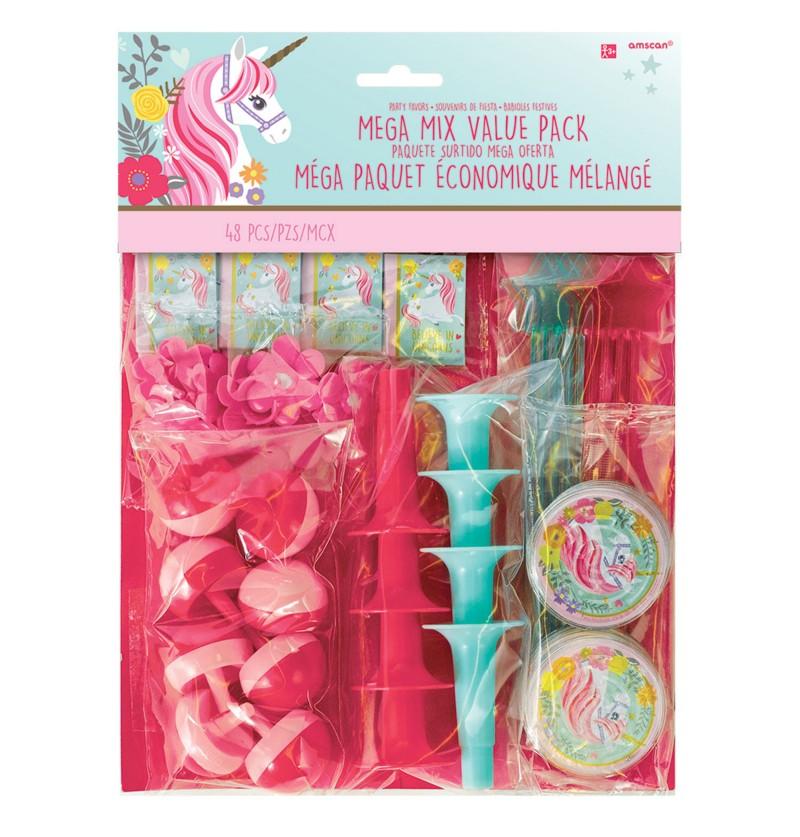 set de 48 piezas de juguetes variados princesa unicornio