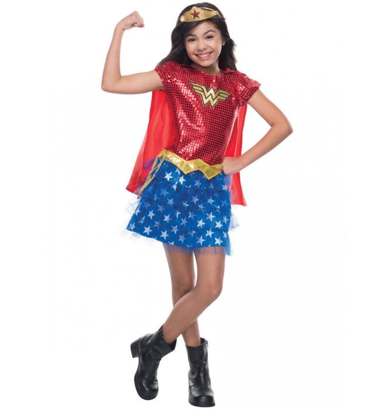 Disfraz de Wonder Woman DC Comics para niña