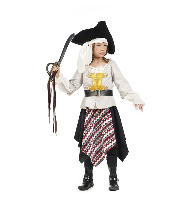 disfraz de pirata de los siete mares para nia
