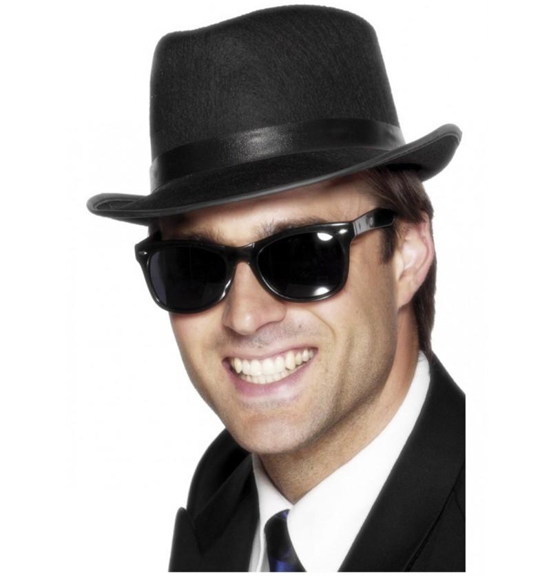 gafas a la moda de los 50 negras