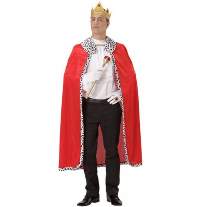 Capa y corona de rey para hombre
