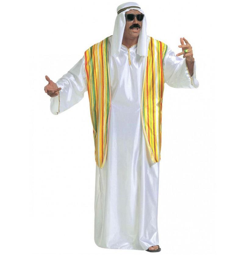 Disfraz de jeque millonario para hombre