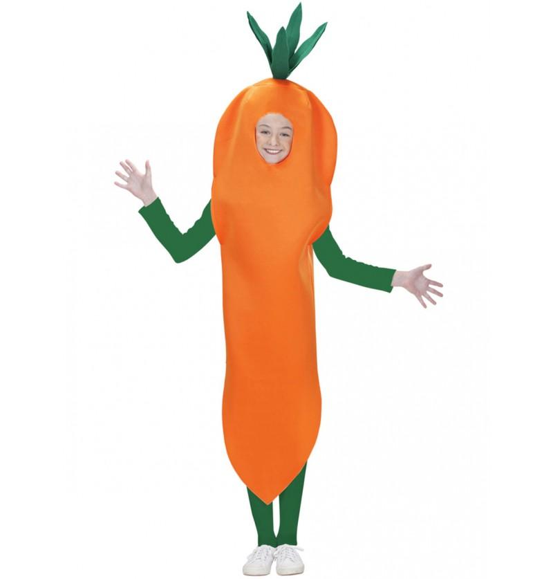 Disfraz de zanahoria para niño