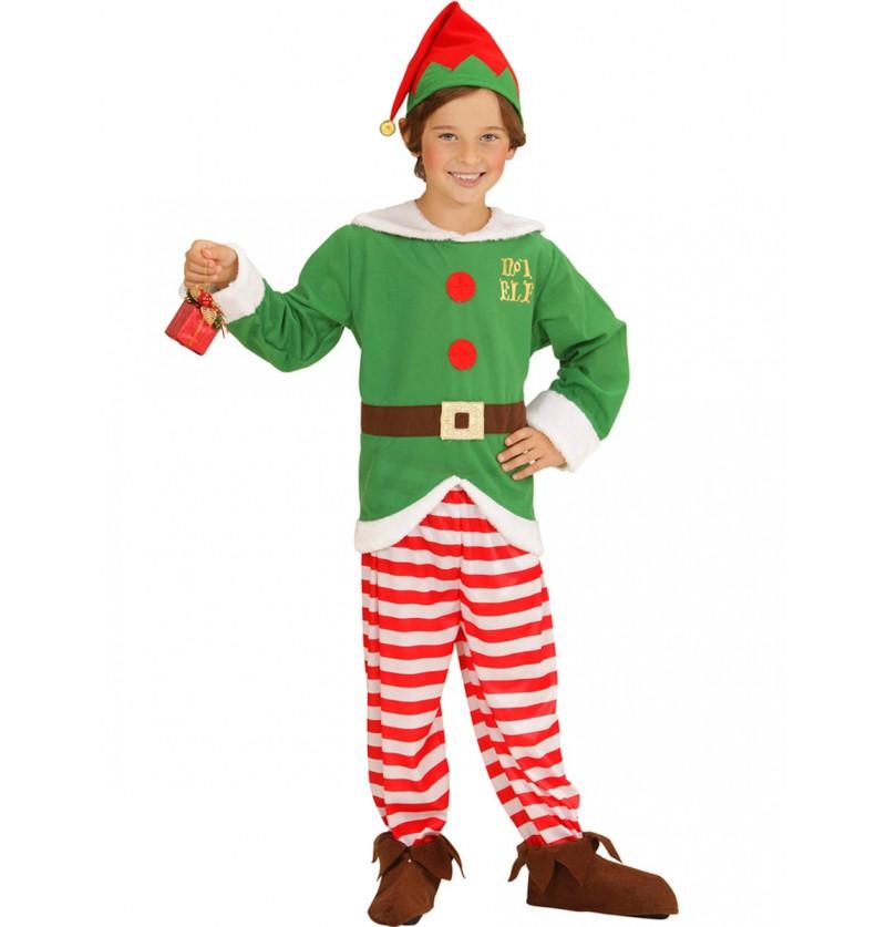 Disfraz de elfo ayudante de Santa Claus para niño