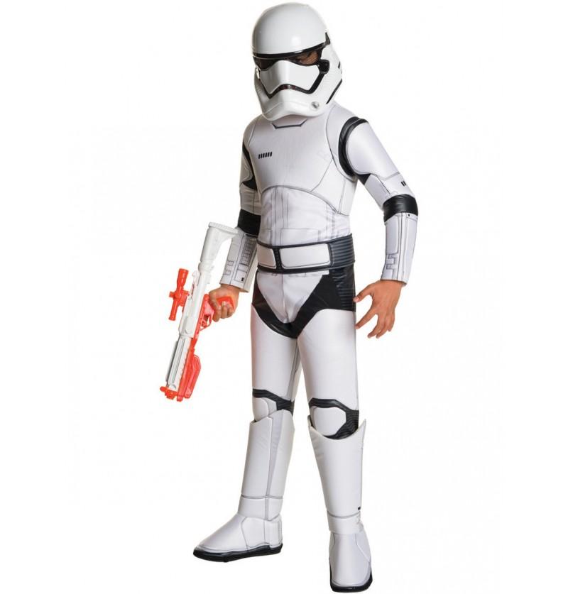Disfraz de Stormtrooper Star Wars Episodio 7 deluxe para niño