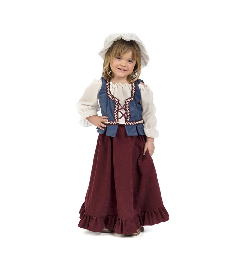 disfraz de tabernera medieval para beb