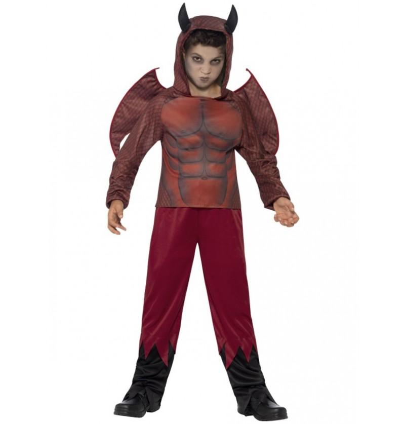Disfraz demonio zombie para niño