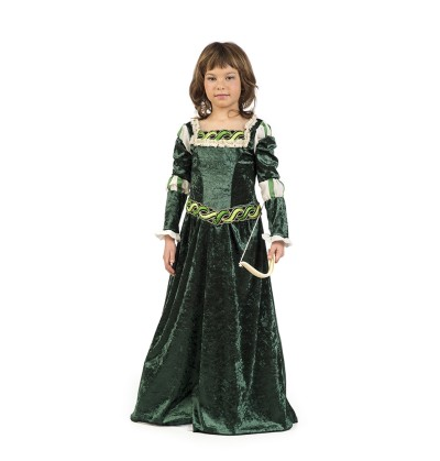 disfraz de arquera medieval para nia