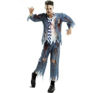 disfraz de estudiante de internado zombie para hombre