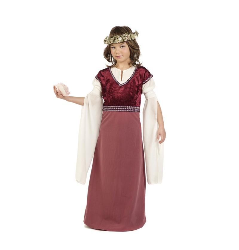 disfraz de dama medieval rosalba para nia