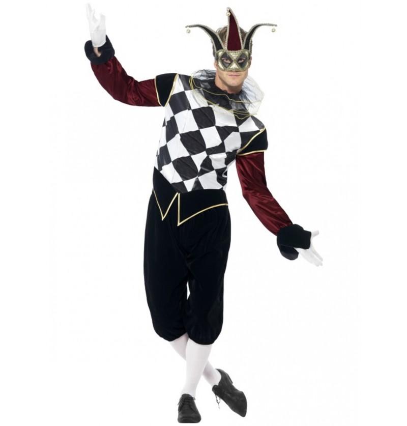 Disfraz de arlequín veneciano para hombre