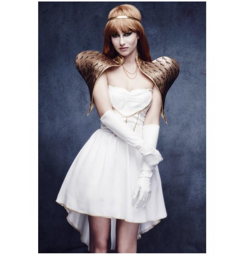 Disfraz de ángel dorado para mujer