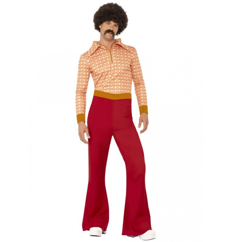 Disfraz hombre fiestero de los 70 para hombre