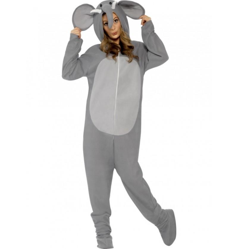 Disfraz de elefante a la moda para adulto