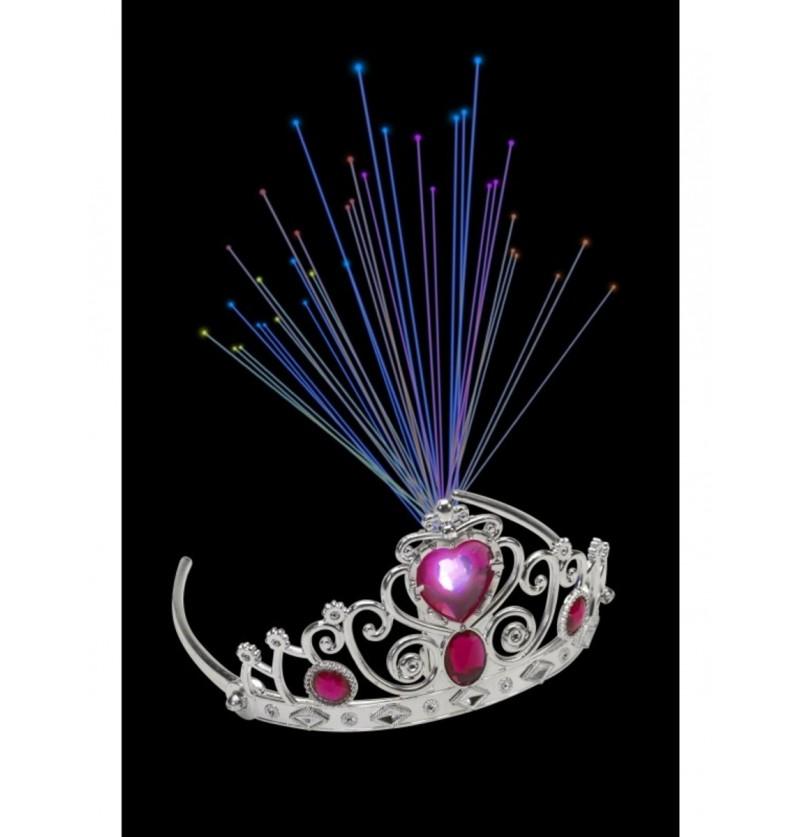 Diadema de princesa de fibra óptica