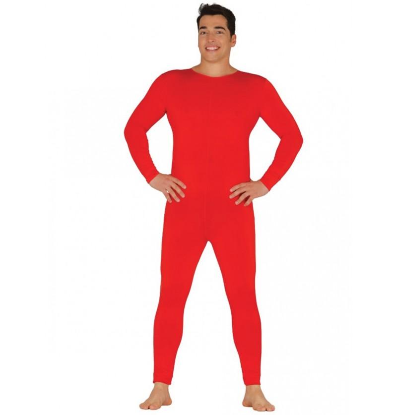 Mono rojo para hombre