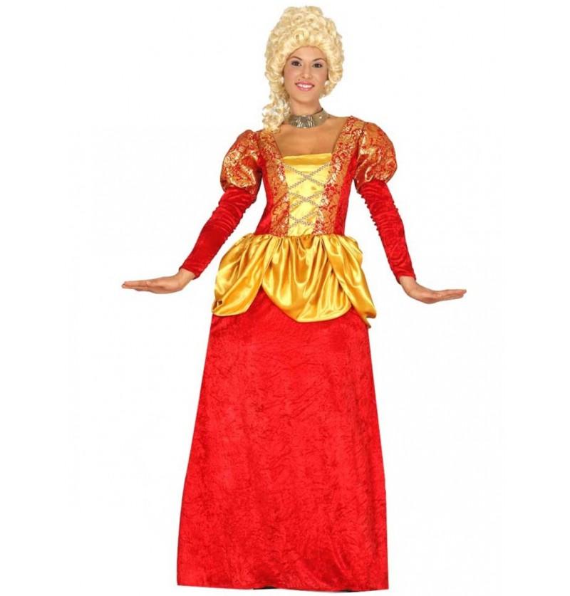 Disfraz de marquesa roja para mujer