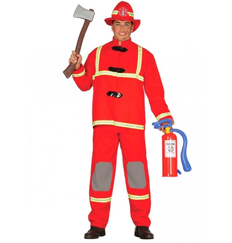 Disfraz de bombero valiente para hombre