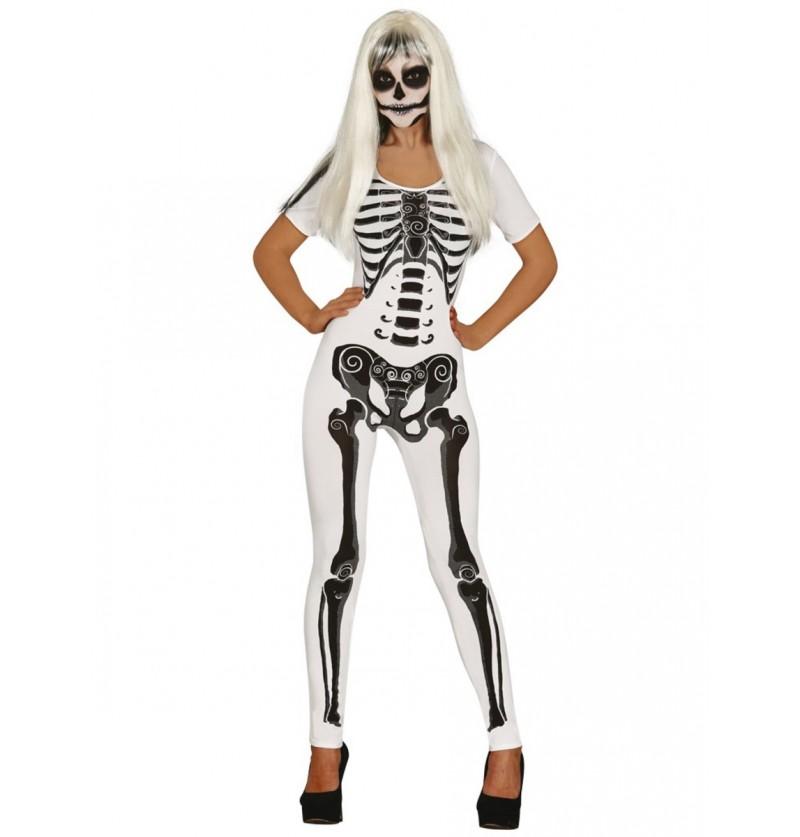 Disfraz de chica esqueleto para mujer