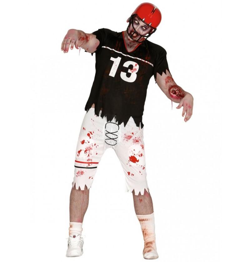 Disfraz de quarterback zombie para hombre