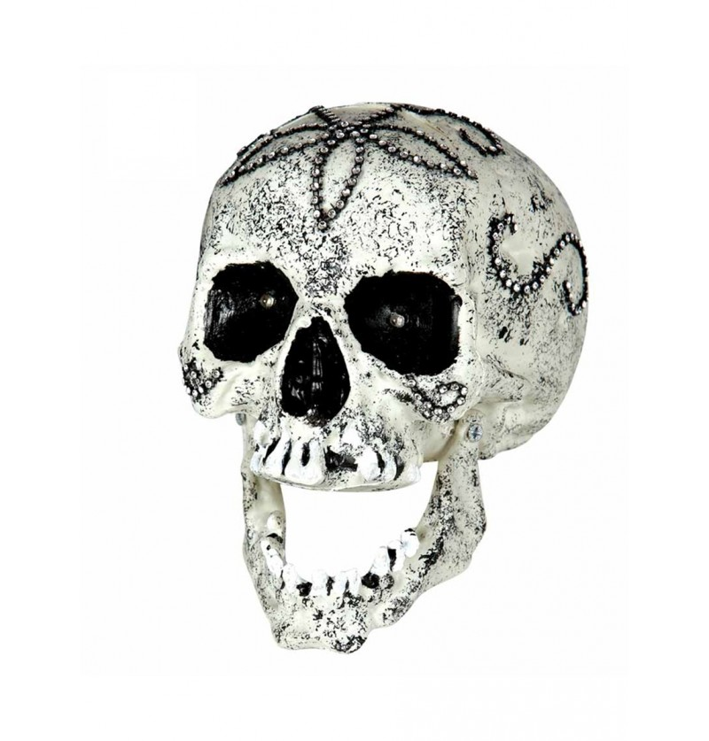 Figura decorativa calavera con diamantes