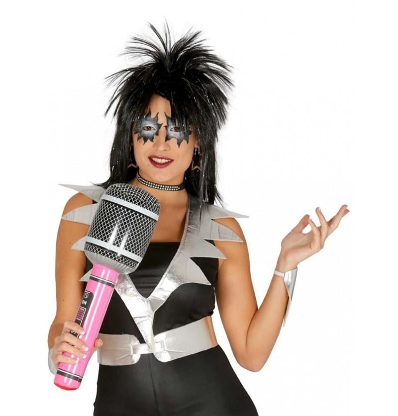 Micrófono hinchable de rockero