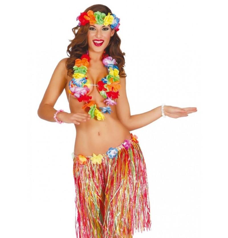 Kit disfraz hawaiano sexy para mujer