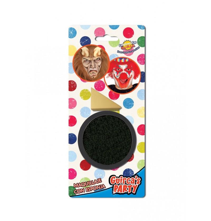 Maquillaje color negro con esponja