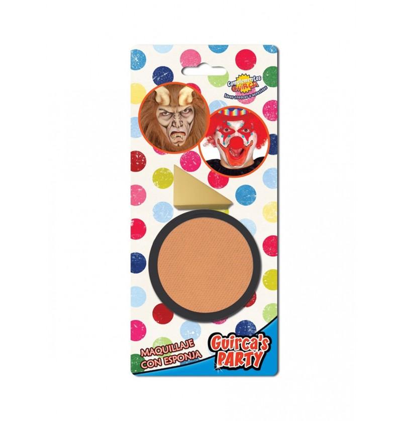 Maquillaje color carne con esponja