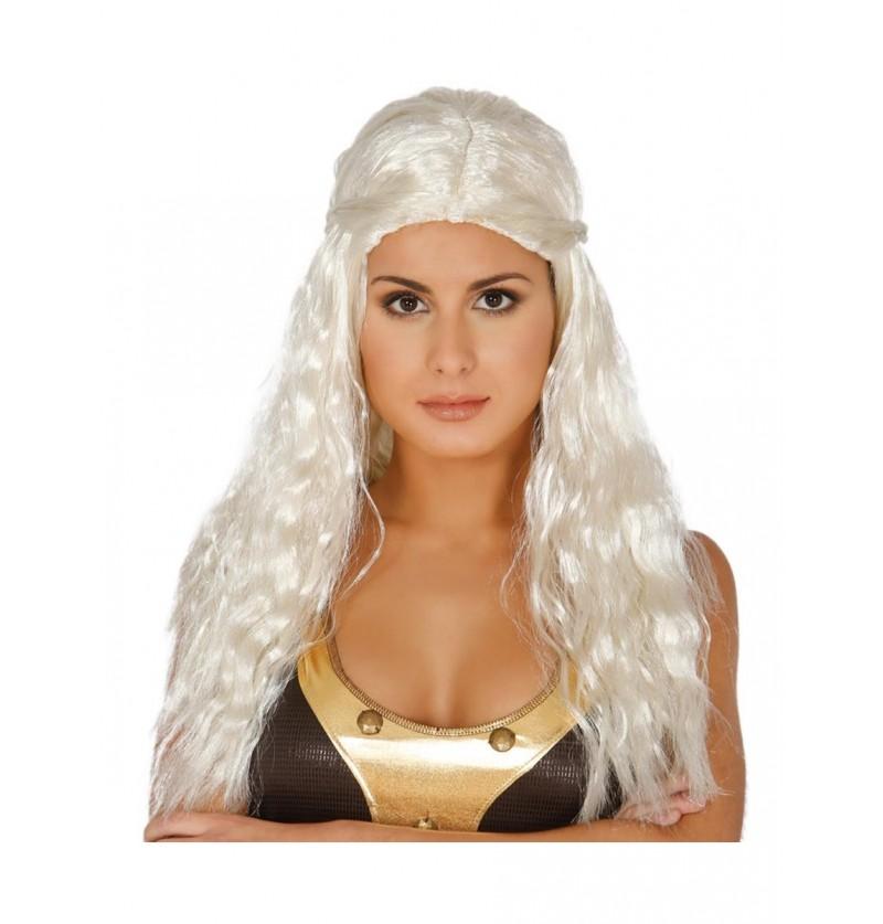Peluca de princesa madre de dragones para mujer