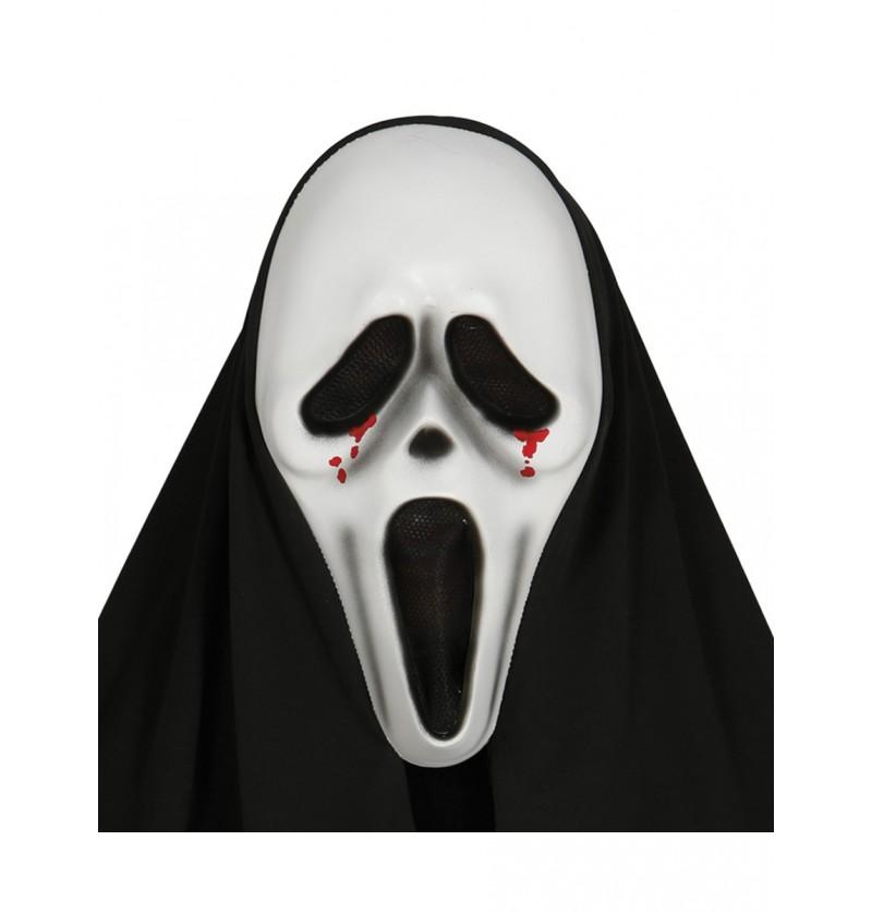Careta de Scream lágrimas de sangre con capucha